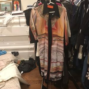 Colorful Clover Canyon midi shirt dress